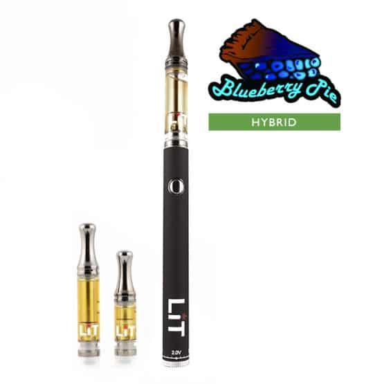 Lit Vape Pens Blueberry Pie Cannabis Strain Hybrid