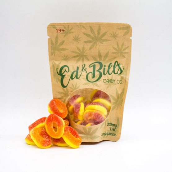 Ed 'n Bills Gummy Edible Peach Rings