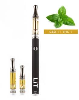 Lit Vape Pens CBD Shark Mint Cannabis Strain CBD THC