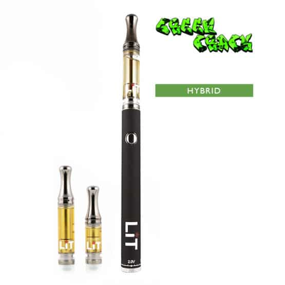 Lit Vape Pens Green Crack Cannabis Strain Hybrid 1
