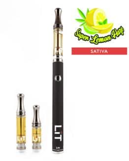 Lit Vape Pens Super Lemon Haze Cannabis Strain Sativa 1