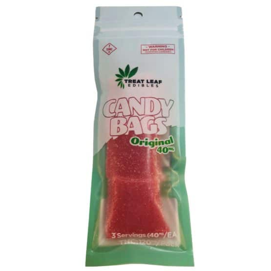 Treat Leaf Edibles Original 40mg THC Candy Bags 3 Pack