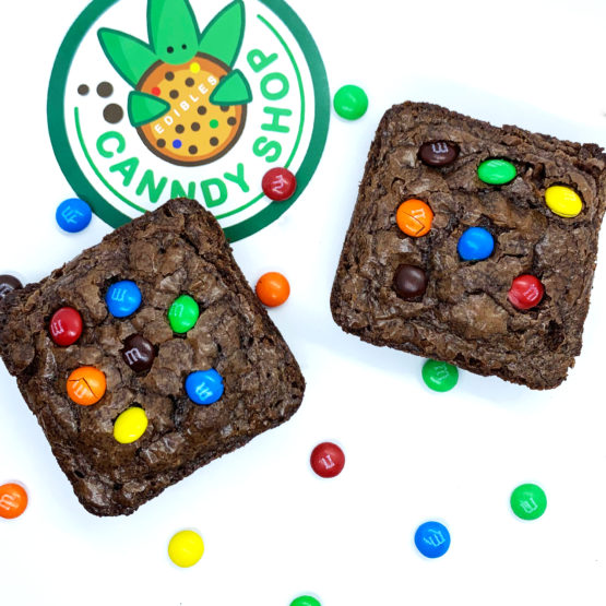 Canndy Shop Edibles THC Milk Chocolate Brownies with Mini MMs Creative