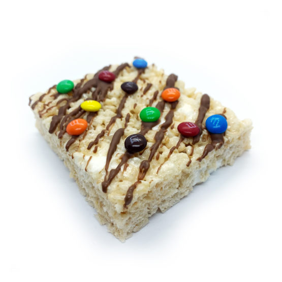 Canndy Shop Edibles THC Rice Krispie Squares with Chocolate Drizzle Mini MMs